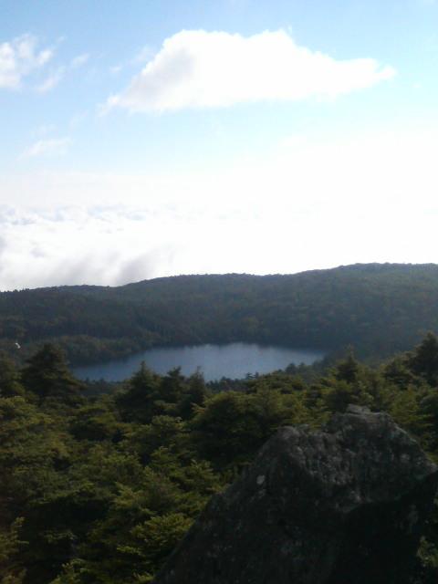 白駒池と雲海