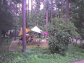 夏のキャンプ
