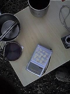ラジオはキャンプの友達